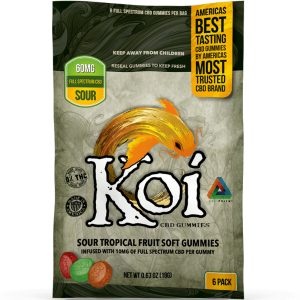 Koi CBD Tropical Fruit Soft Gummies Sour