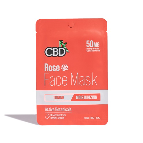 CBDfx Rose 50mg FaceMask