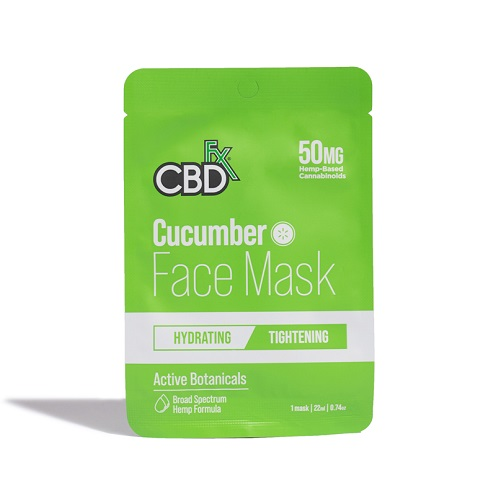 cbdfx cucumber face mask 50mg