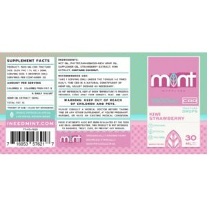 MW Kiwi Straw Tinct Label