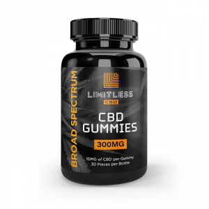 Limitless CBD Broad Spectrum Gummies 30 Count Front View 1