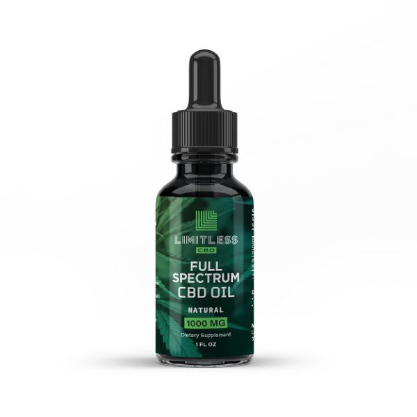 Limitless Cbd Full Spectrum Oil Drops Natural Flavor