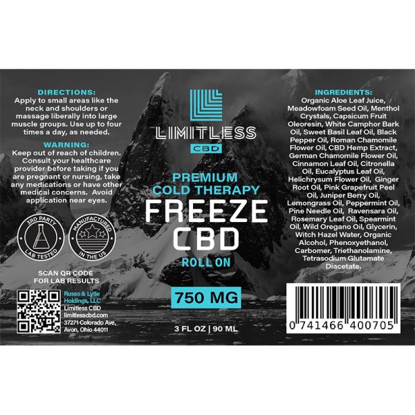 Limitless CBD Freeze Roll-on Gel