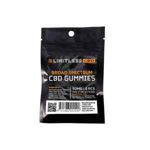 Limitless CBD Broad Spectrum Gummies 5 Count