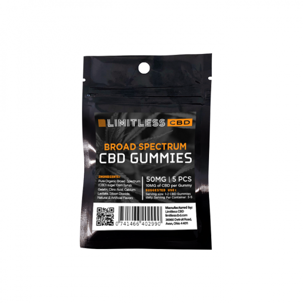 Limitless CBD Broad Spectrum Gummies 5 Count