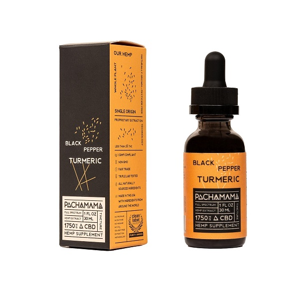 Pacahamam Black Pepper Turmeric Cbd Tincture