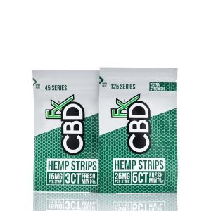 CBDfx Sublingual Hemp Strips Fresh Mint