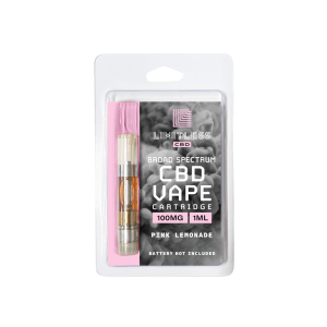 Limitless CBD Vape Cartridge Pink Lemonade Candy100mg