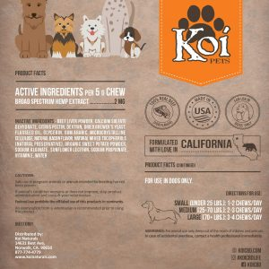Koi Naturals Hemp Extract CBD Pet Soft Chews