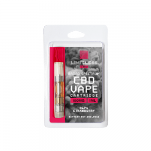 Limitless Cbd Vape Cartridge Ripe Strawberry