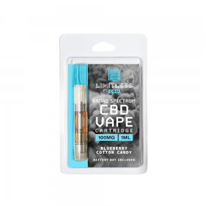 Limitless CBD Vape Cartridge Blueberry Cotton Candy