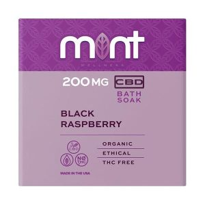 Mint Cbd Black Raspberry Bath Bomb 200MG
