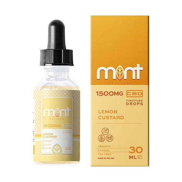 Mint Wellness Cbd Lemon Custard Tincture Drops 1500MG