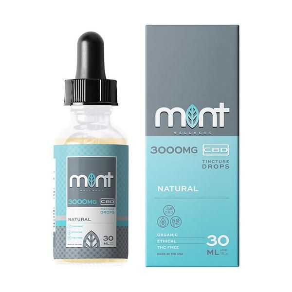 Mint Wellness Cbd Natural Tincture Drops 3000MG