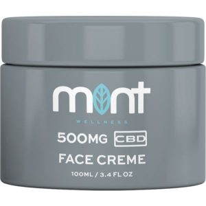 Mint CBD Face Cream Jar Render