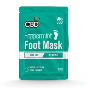 CBDfx Peppermint 50mg CBD Foot Mask