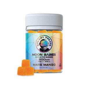 Moon Babies Mars Mango Delta 8 Gummies 500mg