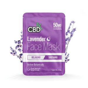CBDfx Lavender 50mg CBD Foot Mask