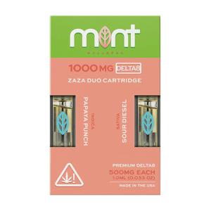 Mint Wellness Papaya Punch & Sour Diesel Zaza DUO Delta-8 Cartridges