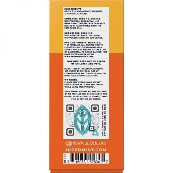 Mint Wellness Blue Dream Delta-8 Disposable Vape Device